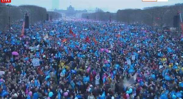 La manif du 13 janvier, plus d'un million de personnes !