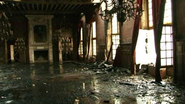 La Rochelle salle des fêtes après l'incendie 2013