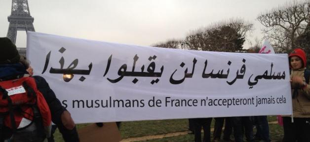 Musulmans contre le mariage gay en France