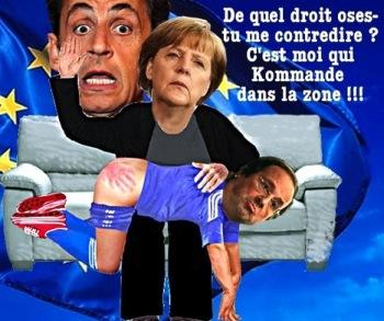 Merkel donne la fessée