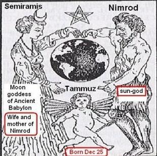 Nimrod, Semiramis et Tammuz